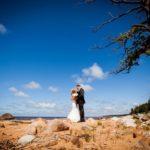 kāzu jūras fotosesija