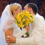 dzeltenais tonis kāzās