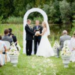 kāzu arka, ceremonija dabā