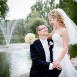 strūklaka kāzās, jaunais pāris