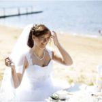 līgavas plīvurs, līgava pie jūras