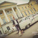 Mežotnes pils kāzās, retro kāzu auto