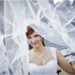 līgava kāzu foto, līgavas plīvurs