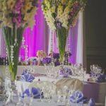 Kāzu floristika, kāzu dekori galdiem
