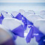 kāzu dekorācijas, lillā tonis kāzām