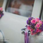kāzu retro auto, kāzu floristika