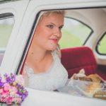 kāzu retro auto, līgava auto