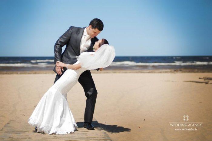 kāzas pie jūras