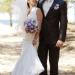 jaunais pāris, brīvdabas kāzu ceremonija