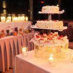 kāzu torte, tortes galds