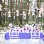ziemas kāzu noformējums