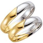 Schalins gredzeni, saderināšanās gredzeni, zelta gredzeni divkrāsu