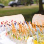 krāsainas kāzu uzkodas