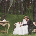 romantiski kāzu foto