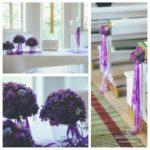kāzas luterāņu baznīcā, violetais tonis kāzās