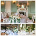 Mežotnes pils, kāzas pilī, kāzu galdu dekorācijas