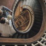oriģināli kāzu foto, trepes