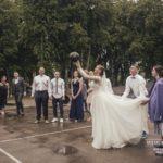 līgava spēlē basketbolu kāzās, basketbols kāzās